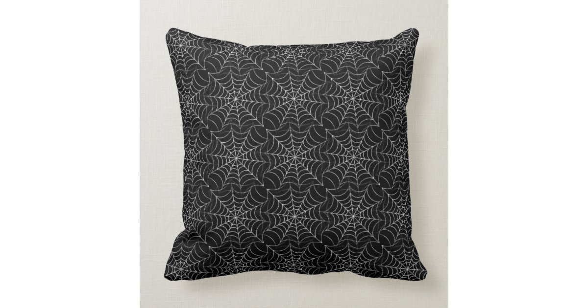 Spider Web Pattern Throw Pillow Zazzle
