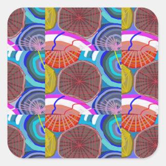 SPIDER Web Pattern :  UNIQUE Art by NavinJOSHI Square Sticker