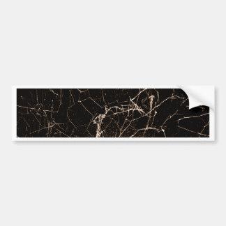 Spider Web Print Grunge Dark Texture Bumper Sticker