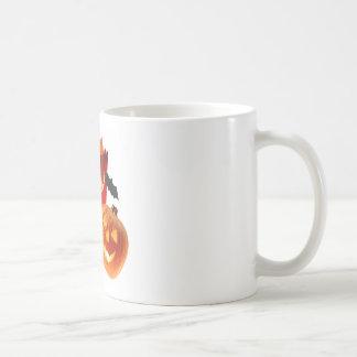 Spider Web Pumpkins and Bat Coffee Mug