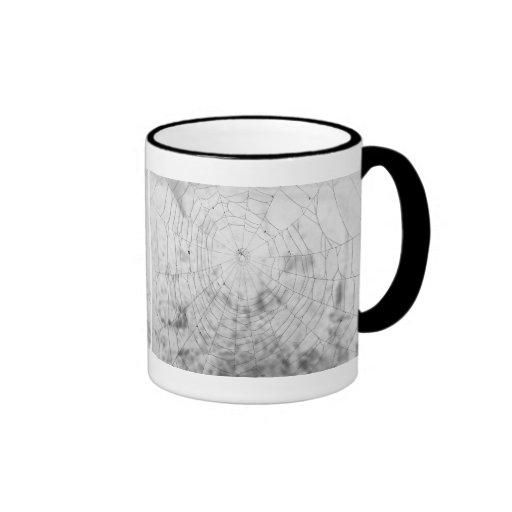 Spider web ringer coffee mug