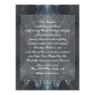 Spider Web Samhain Spooky Goth Gothic 6.5x8.75 Paper Invitation Card