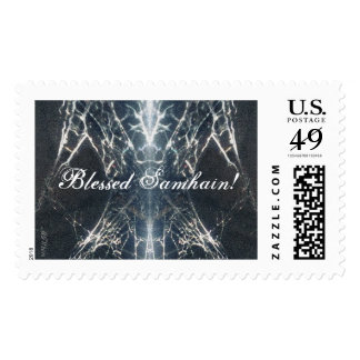 Spider Web Samhain Spooky Goth Gothic Postage