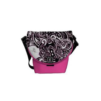 Spider Web Shoulder bag in PINK Courier Bag