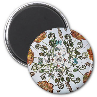 Spider Web - Spider - Ants and Bees 2 Inch Round Magnet