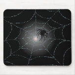 SPIDER WEB & SPIDER by SHARON SHARPE Mouse Mats