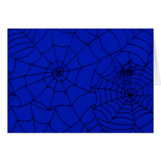 Spider Web, Spider Net, Cobweb - Blue Black Card
