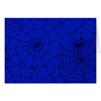 Spider Web, Spider Net, Cobweb - Blue Black Card