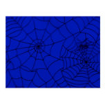 Spider Web, Spider Net, Cobweb - Blue Black Postcards