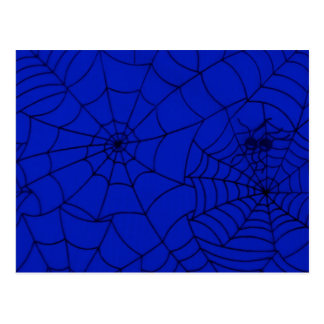 Spider Web, Spider Net, Cobweb - Blue Black Postcard