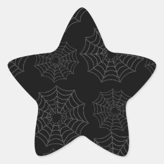 Spider web star sticker