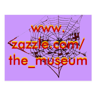 Spider Web The MUSEUM Zazzle the_museum Postcard