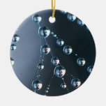 Spider Web with Droplets Christmas Ornament