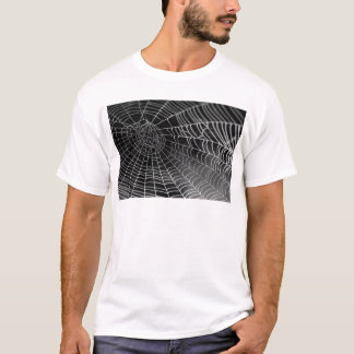 Spider web with water beads T-Shirt