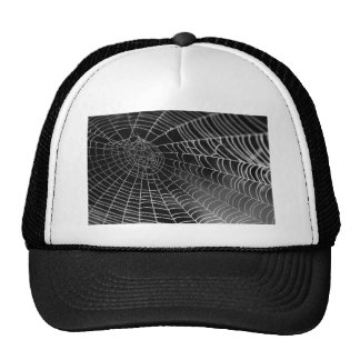 Spider web with water beads trucker hat