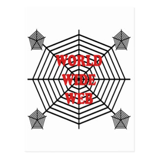 Spider Web - World Wide Web Postcard