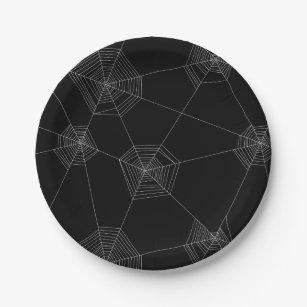 Spider Webs Black Paper Plate  sc 1 st  Zazzle & Spider Web Plates | Zazzle