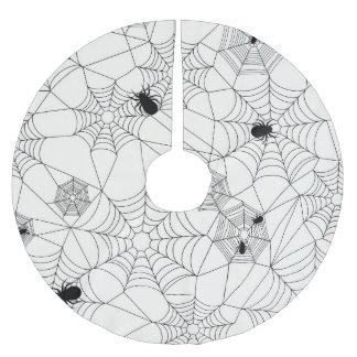 Spider Webs Halloween Pattern Brushed Polyester Tree Skirt