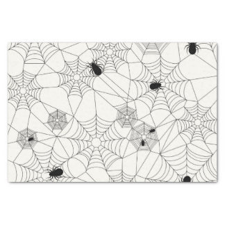 Spider Webs Halloween Pattern Tissue Paper