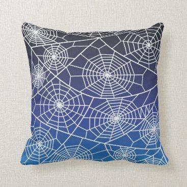 Halloween Themed Spider Webs Throw Pillow
