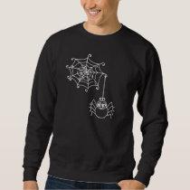 Spider Wed and Spider on Black Halloween Sweatshir Sweatshirt