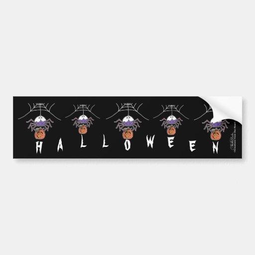 Spider with Jack-O-Lantern Bumper Sticker