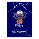 Spider with Jack-O-Lantern Card