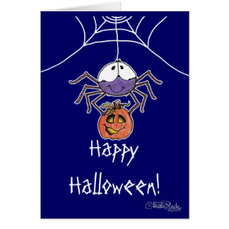 Spider with Jack-O-Lantern Greeting Card