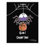 Spider with Jack-O-Lantern Invites