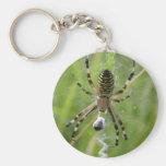 Spider with prey keychain