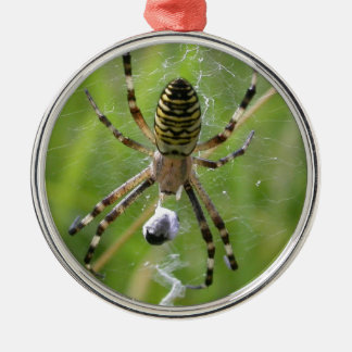 Spider with prey metal ornament