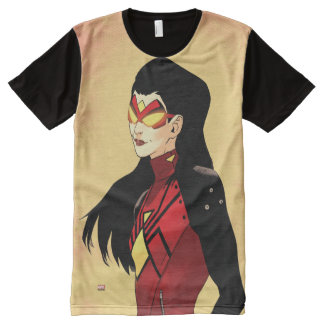 Spider-Woman Clenched Fists All-Over-Print Shirt