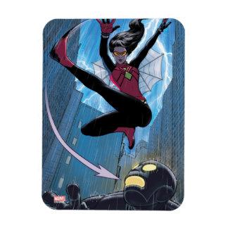 Spider-Woman Getting The Drop On Villain Rectangular Photo Magnet
