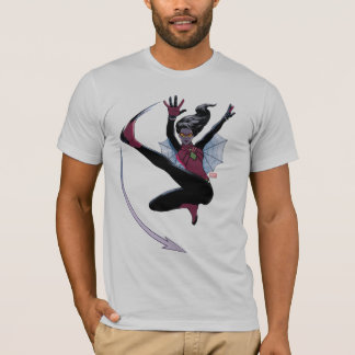Spider-Woman Getting The Drop On Villain T-Shirt