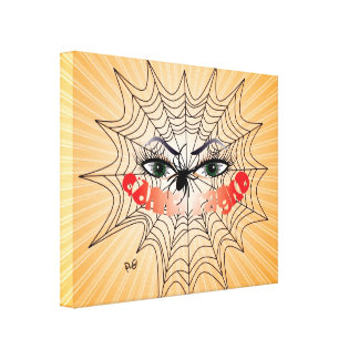 Spider Women/Donna ragno pressure on wedge canvas