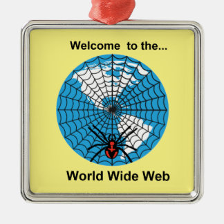 Spider World Wide Web Metal Ornament