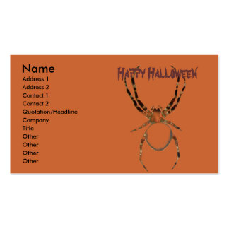 spiders #1 business card