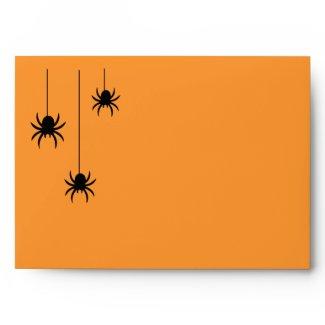 Spiders and Lace Invitation Envelope zazzle_envelope
