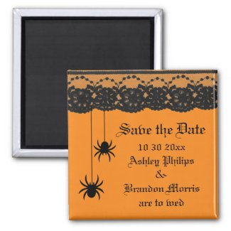 Spiders and Lace Save the Date Magnet zazzle_magnet