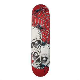Spiders and Skulls Skateboard Deck