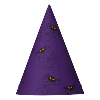 Spiders and spider webs pattern Halloween Party Hat