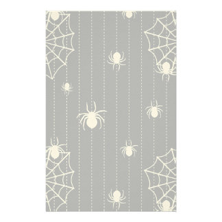 Spiders and web background stationery