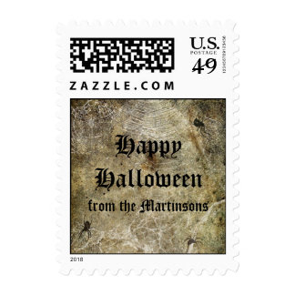 Spiders and Webs Halloween postage