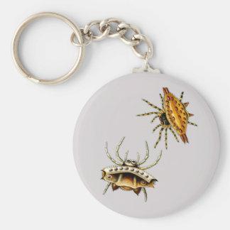 Spiders Basic Round Button Keychain