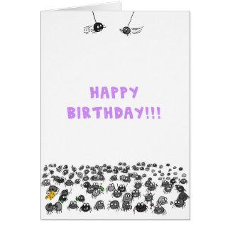 Spiders Birthday Card