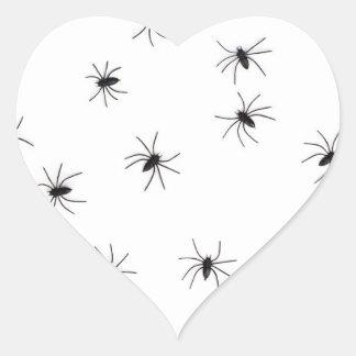 Spiders flock (group) heart sticker
