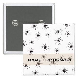Spiders Halloween Button