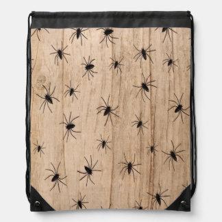 Spiders Halloween Drawstring Bag