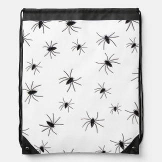 Spiders Halloween Drawstring Bag