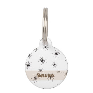 Spiders Halloween Pet Tag